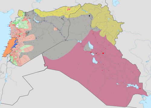 ISILの勢力圏